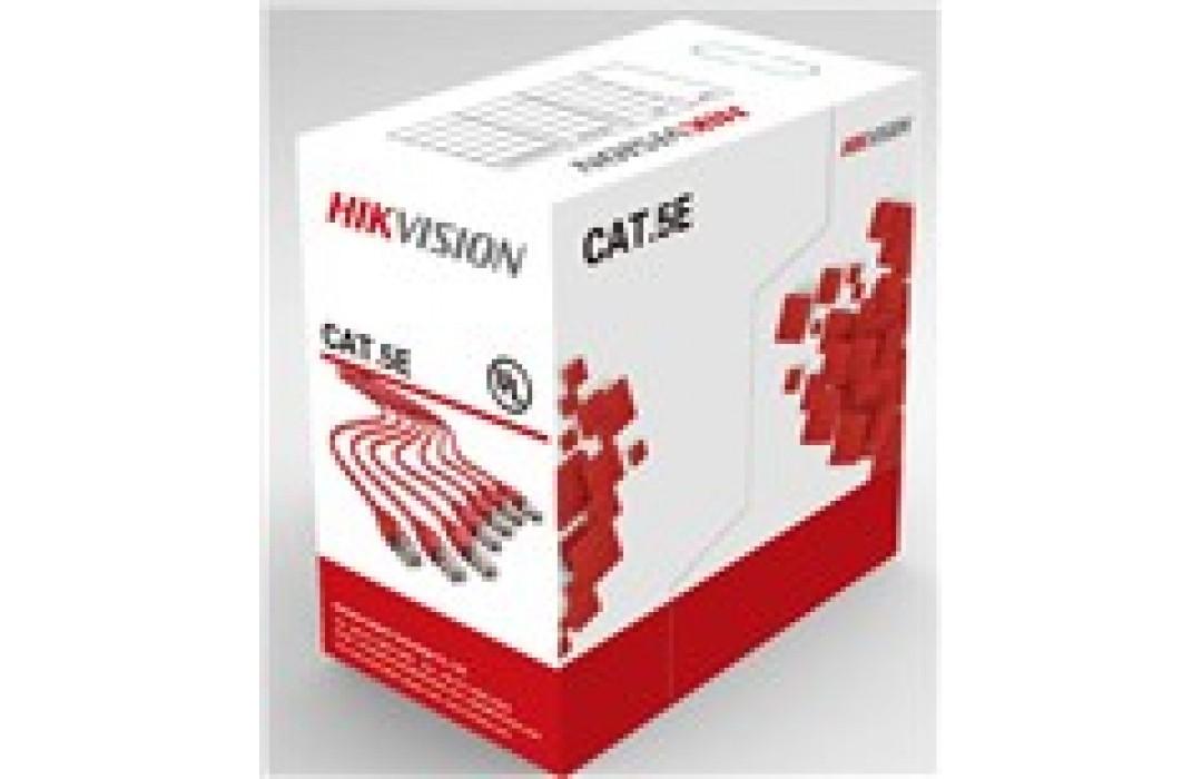 Kabelis ryšio Hikvision UTP 5E (Gysla-0.55mm, ritė 305m) DS-1LN5E-S