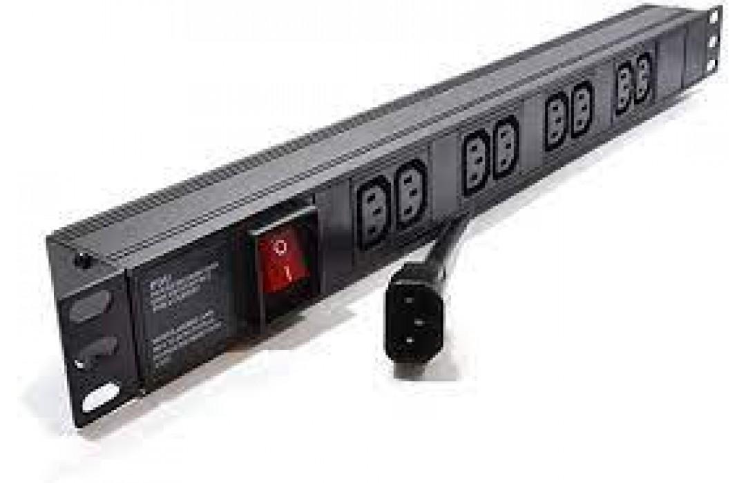 Maitinimo panelė 19'' 8X220V su jungikliu