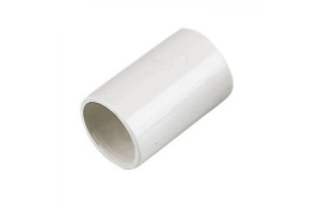 Tiesus sujungimas 32mm vamzdžiams su išplatintu galu, baltas (100)